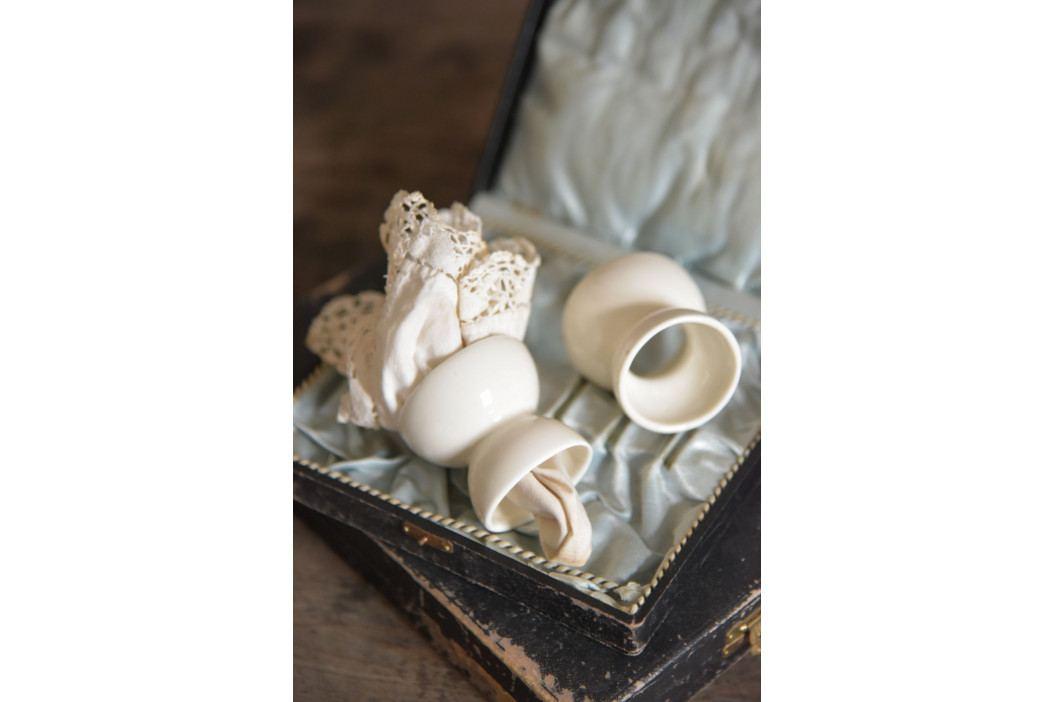 Jeanne d'Arc Living Porcelánový stojánek na vejce Signature, krémová barva, porcelán