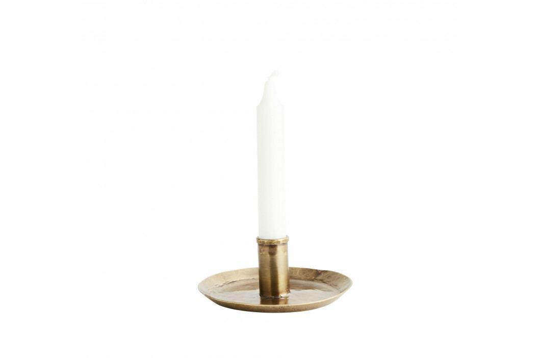 MADAM STOLTZ Ručně kovaný svícen Antique Brass 15 cm, měděná barva, kov