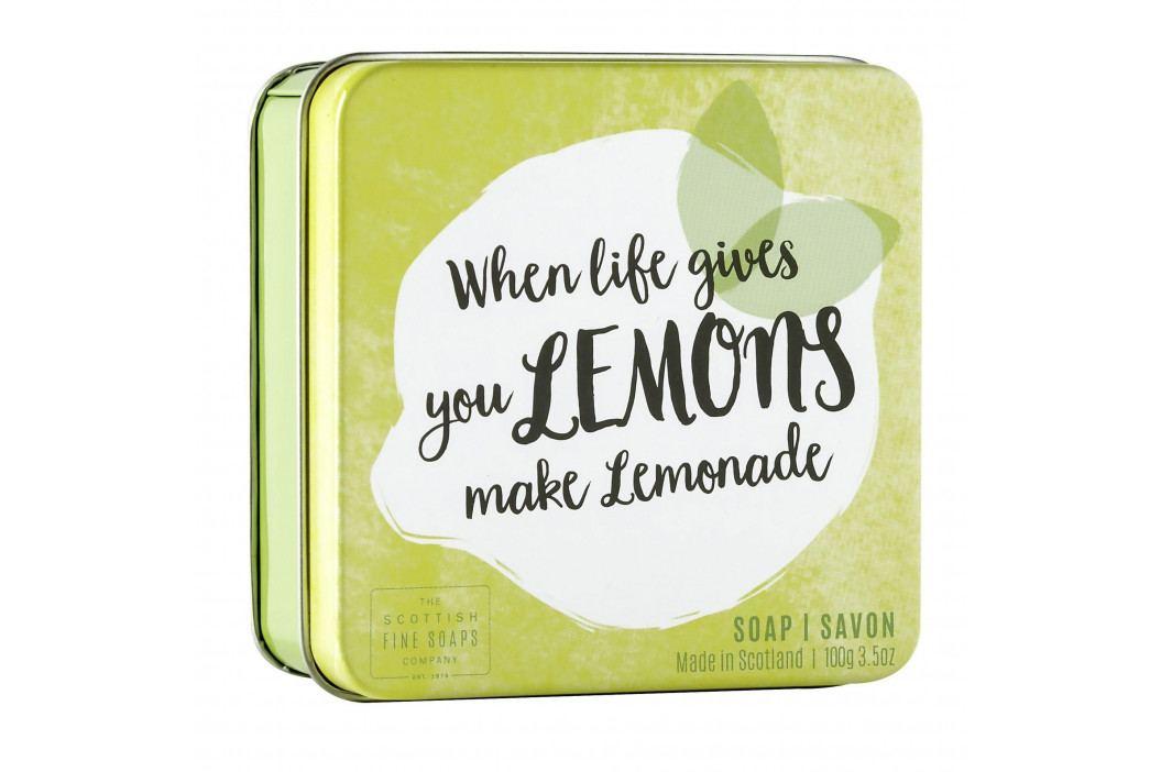 SCOTTISH FINE SOAPS Mýdlo v plechové krabičce Lemons, žlutá barva, kov obrázek inspirace