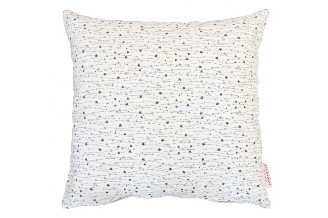 Krasilnikoff Bavlněný povlak na polštář Stars in the Sky 50x50, šedá barva, bílá barva, textil