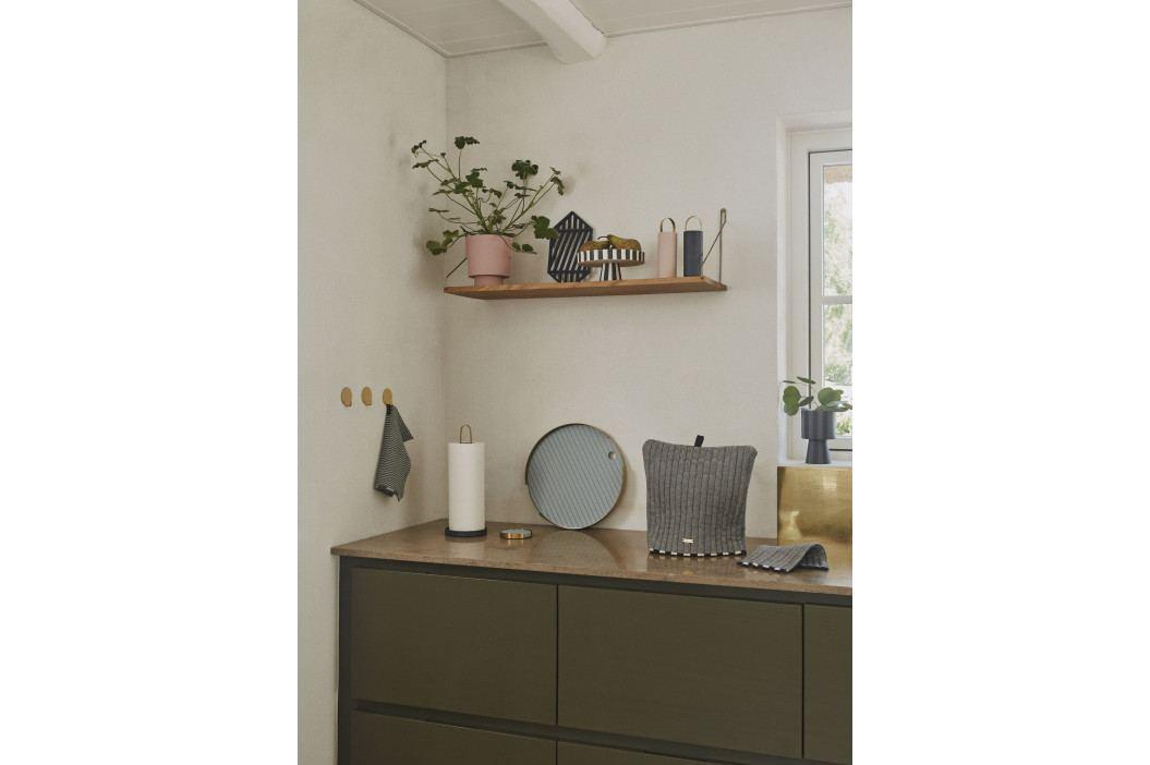 OYOY Dřevěný mlýnek na sůl a pepř Yumi Anthracite, černá barva, dřevo, kov, keramika