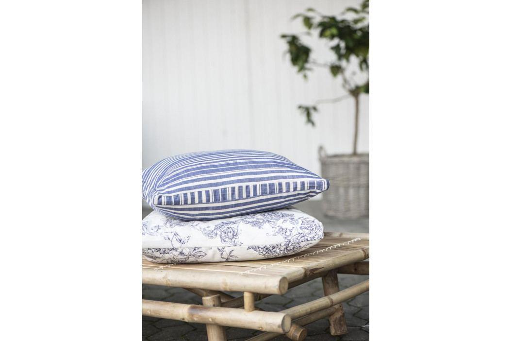 IB LAURSEN Povlak na polštář Blue Flower 45 x 45 cm, modrá barva, bílá barva, kov, plast, textil