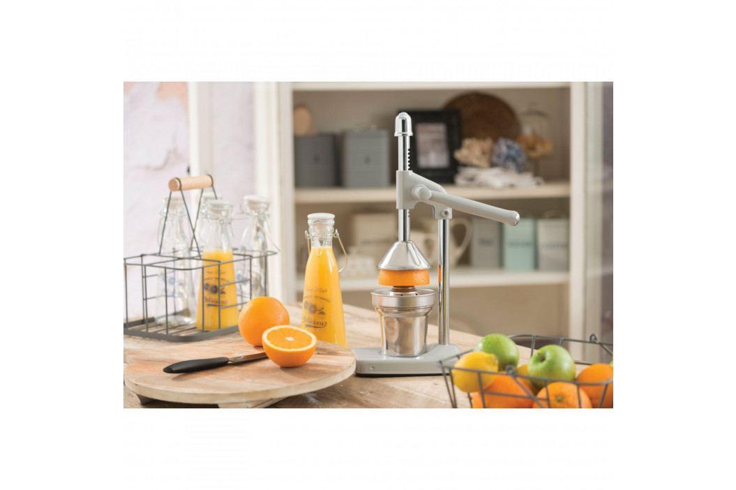 Kitchen Craft Lis na citrusy French Grey, šedá barva, stříbrná barva, kov