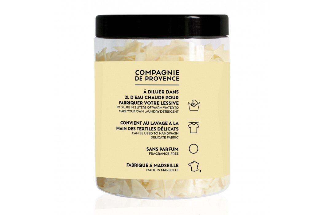 COMPAGNIE DE PROVENCE Marseillské mýdlové vločky na praní 350 g, žlutá barva, krémová barva, plast