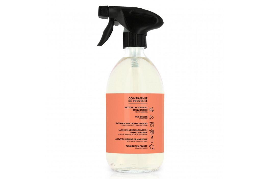 COMPAGNIE DE PROVENCE Univerzální čistič ve spreji Mandarinka 500 ml, oranžová barva, plast