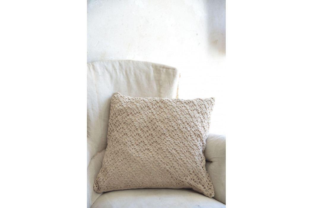 Jeanne d'Arc Living Háčkovaný povlak na polštář Chrocheted Pillow, béžová barva, textil