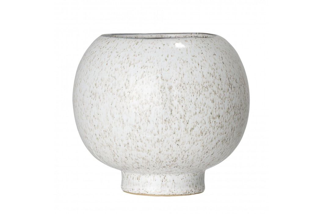 Bloomingville Keramický obal na květináč Nature Stoneware, béžová barva, krémová barva, keramika
