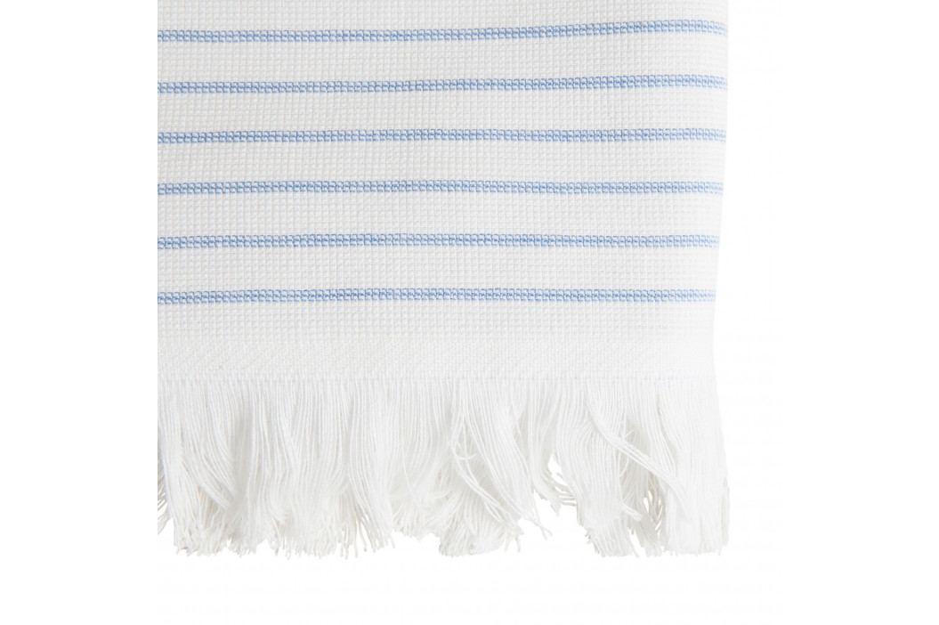 Tine K Home Bavlněná osuška Pinstripe Blue 50x100cm, modrá barva, bílá barva, textil