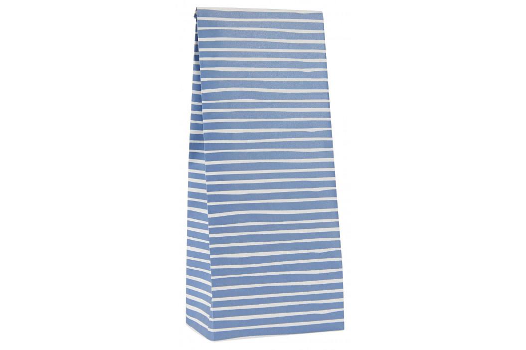 IB LAURSEN Papírový sáček Blue Stripe Menší, modrá barva, bílá barva, papír