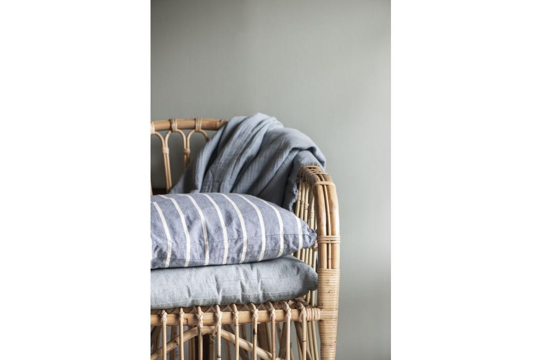 IB LAURSEN Bavlněný povlak na sedák Light Blue 45x3x45cm, modrá barva, textil
