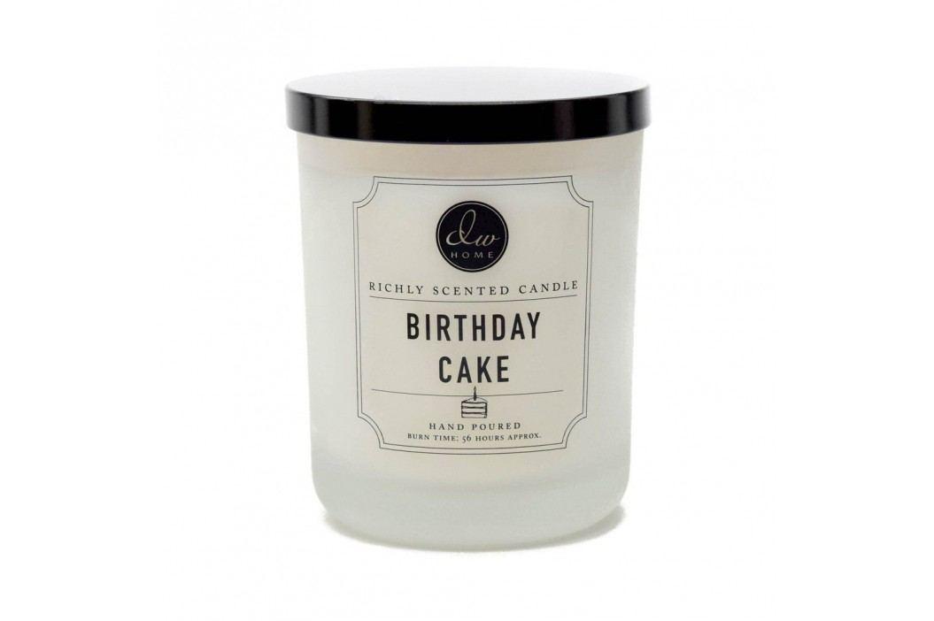 Vonná svíčka ve skle - Narozeninový dort 425gr, černá barva, bílá barva, čirá barva, sklo