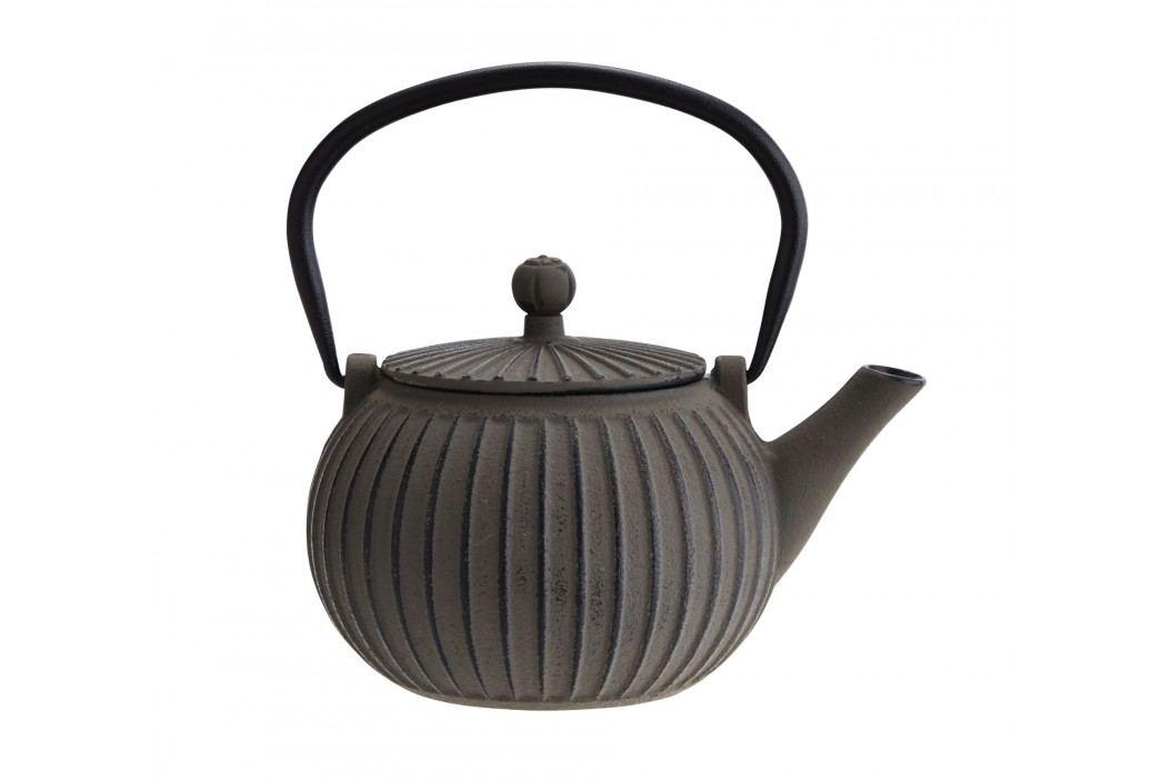 Litinová čajová konvička Grey 500 ml, šedá barva, litina