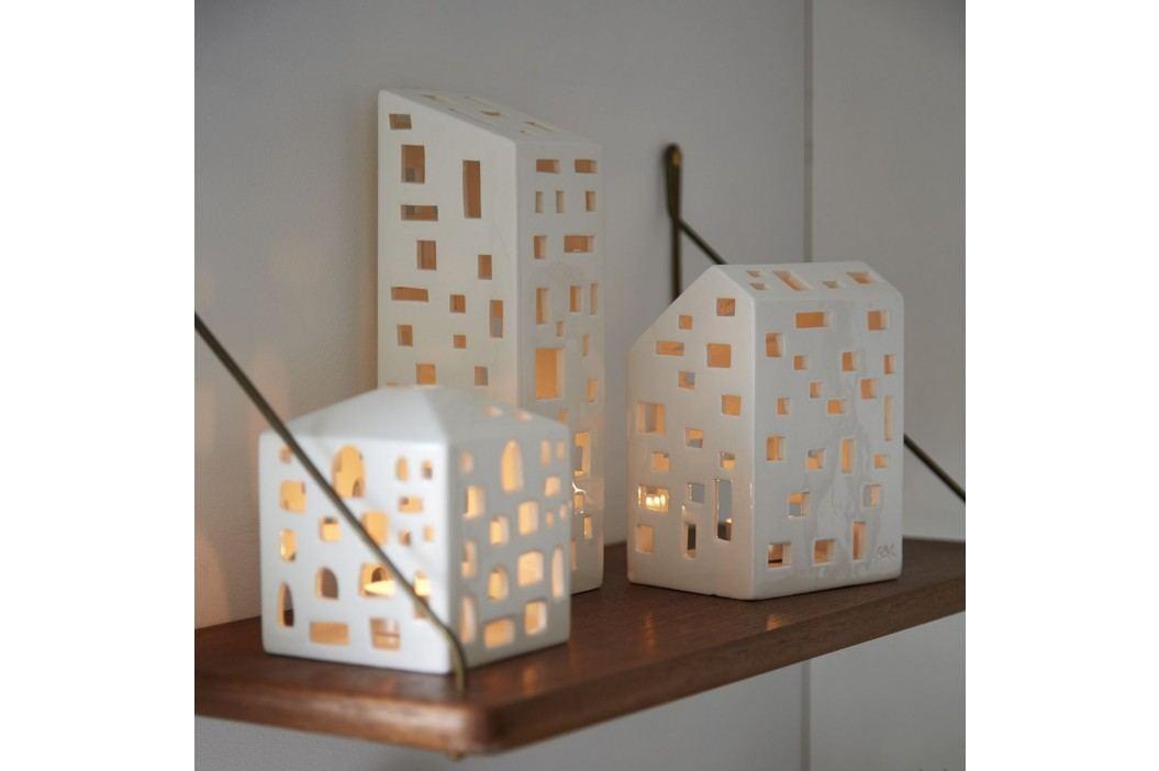 Lucerna domeček Urbania Light house 10 cm, krémová barva, keramika