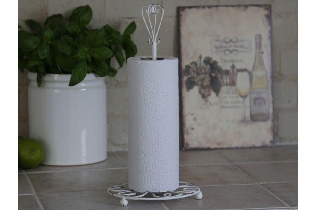 Stojan na kuchyňské utěrky Antique white, bílá barva, kov