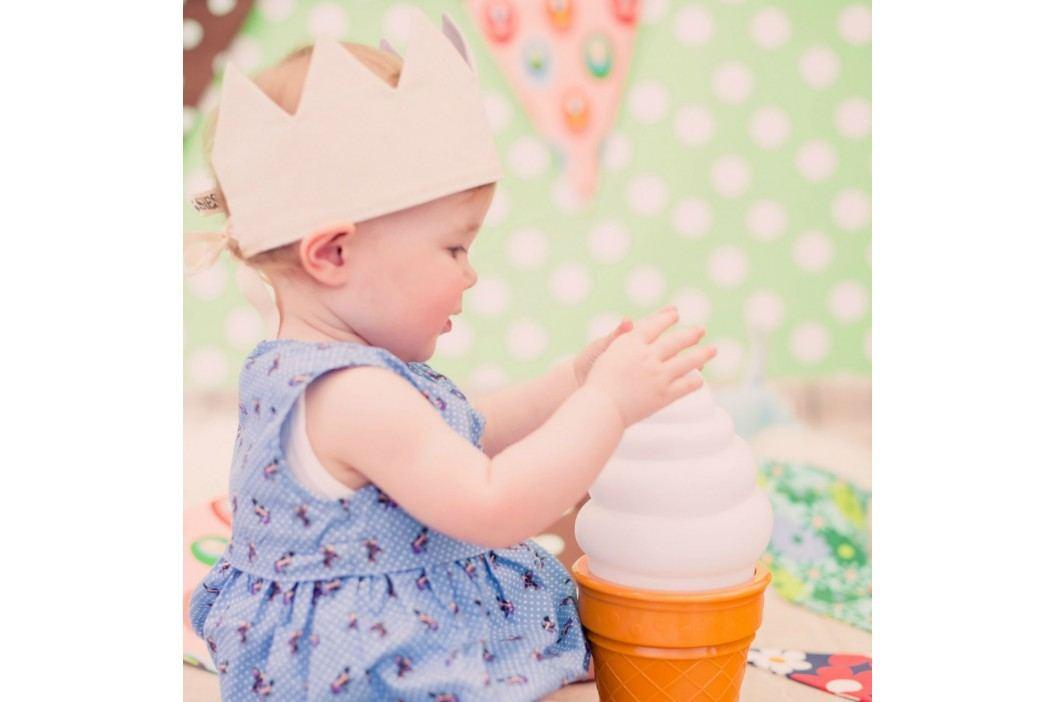 Dětská lampa Pink Ice Cream, růžová barva, plast