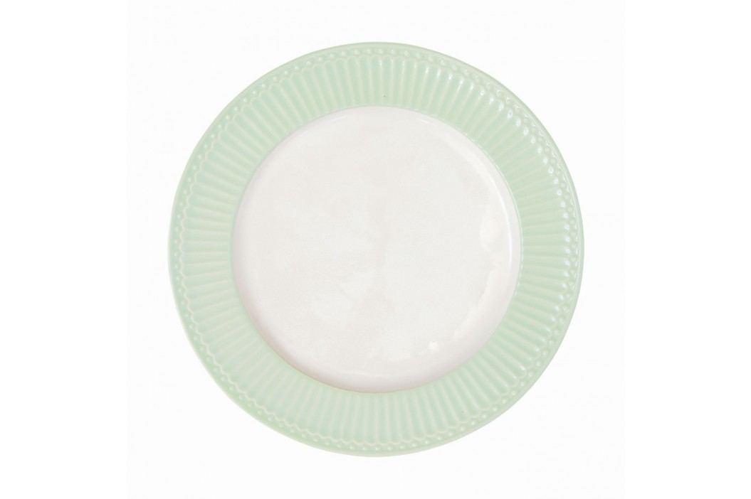 Obědový talíř Alice pale green 26 cm, zelená barva, porcelán