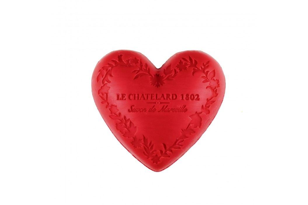 Mýdlo Heart - červené ovoce 100gr, červená barva
