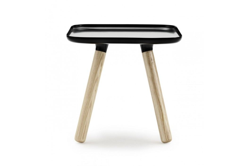 normann COPENHAGEN Stolek Tablo Square Black, černá barva, dřevo, plast
