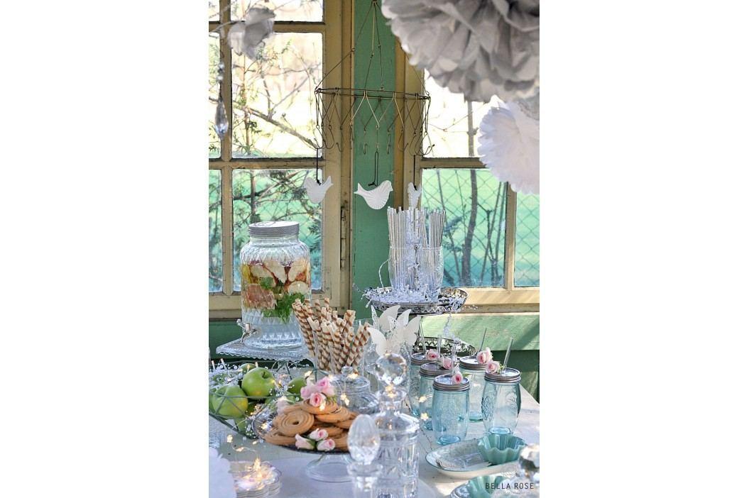 Kovový etažér Elegant, stříbrná barva, kov