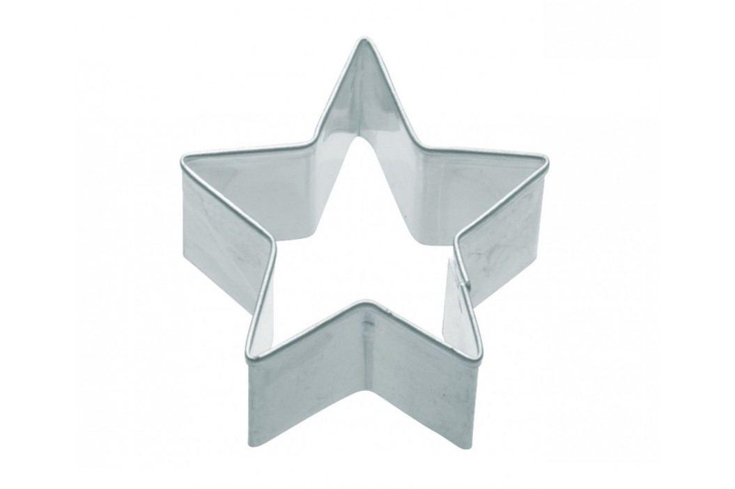 Nerez vykrajovátko - hvězda 7 cm, stříbrná barva, kov