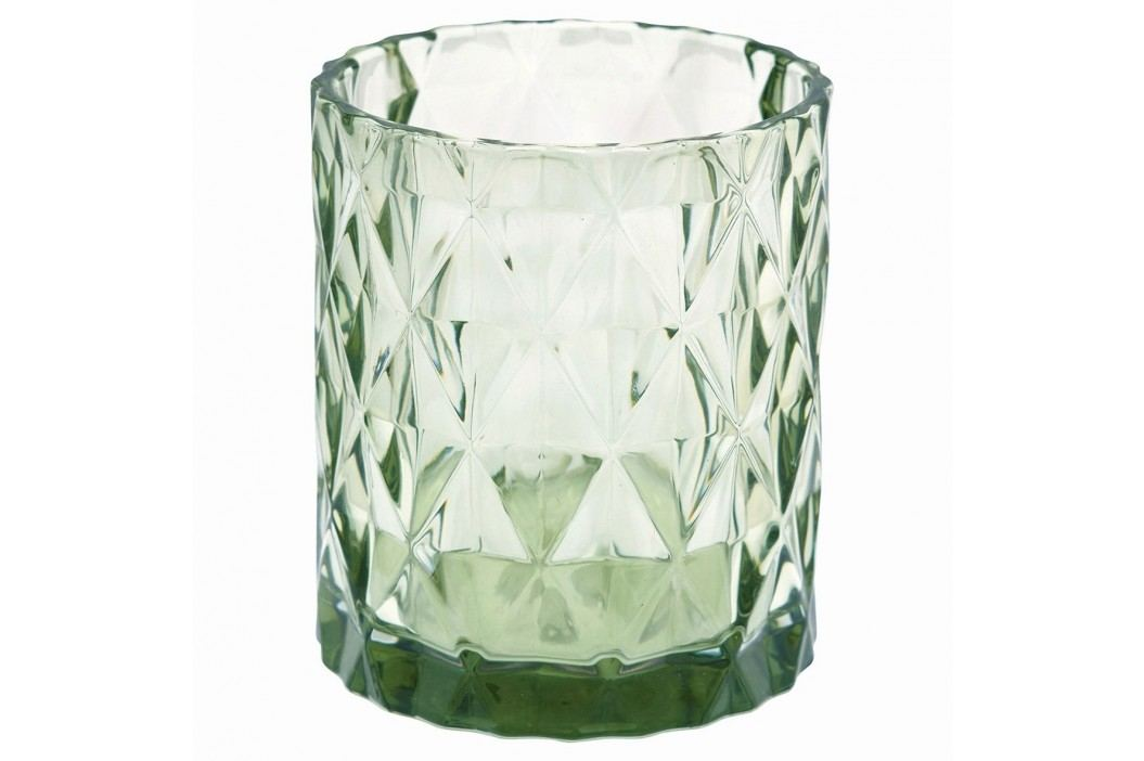 Skleněný svícen Amanda green, zelená barva, sklo
