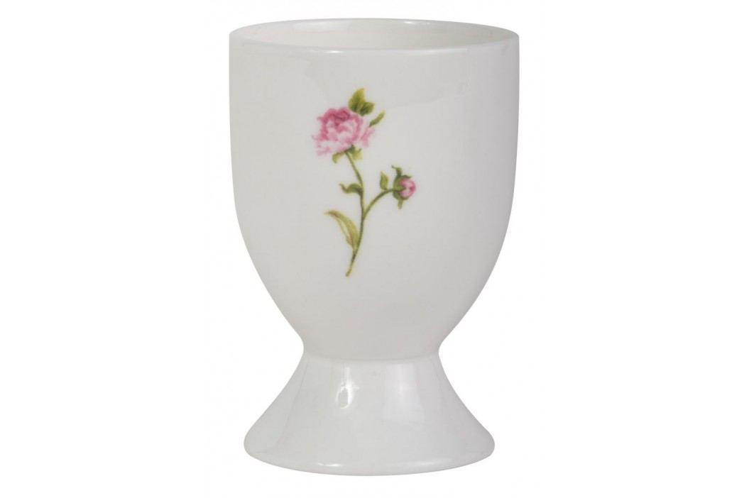 Stojánek na vejce Cottage rose, bílá barva, porcelán