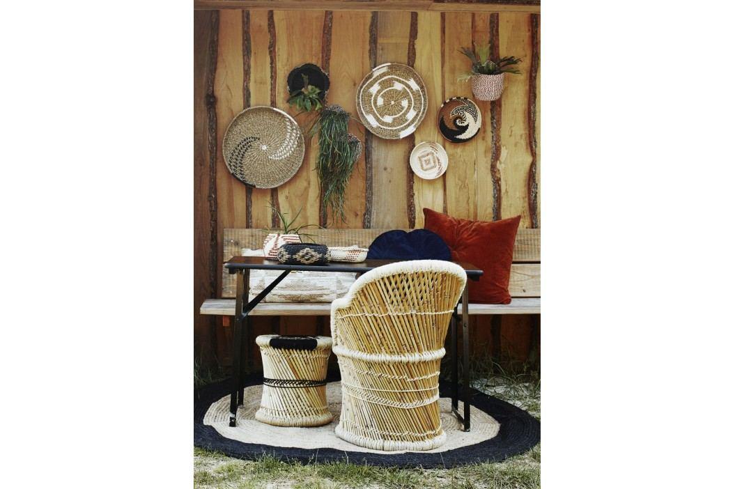 Bambusový košík Natural/paprika, červená barva, béžová barva, hnědá barva, přírodní barva, dřevo