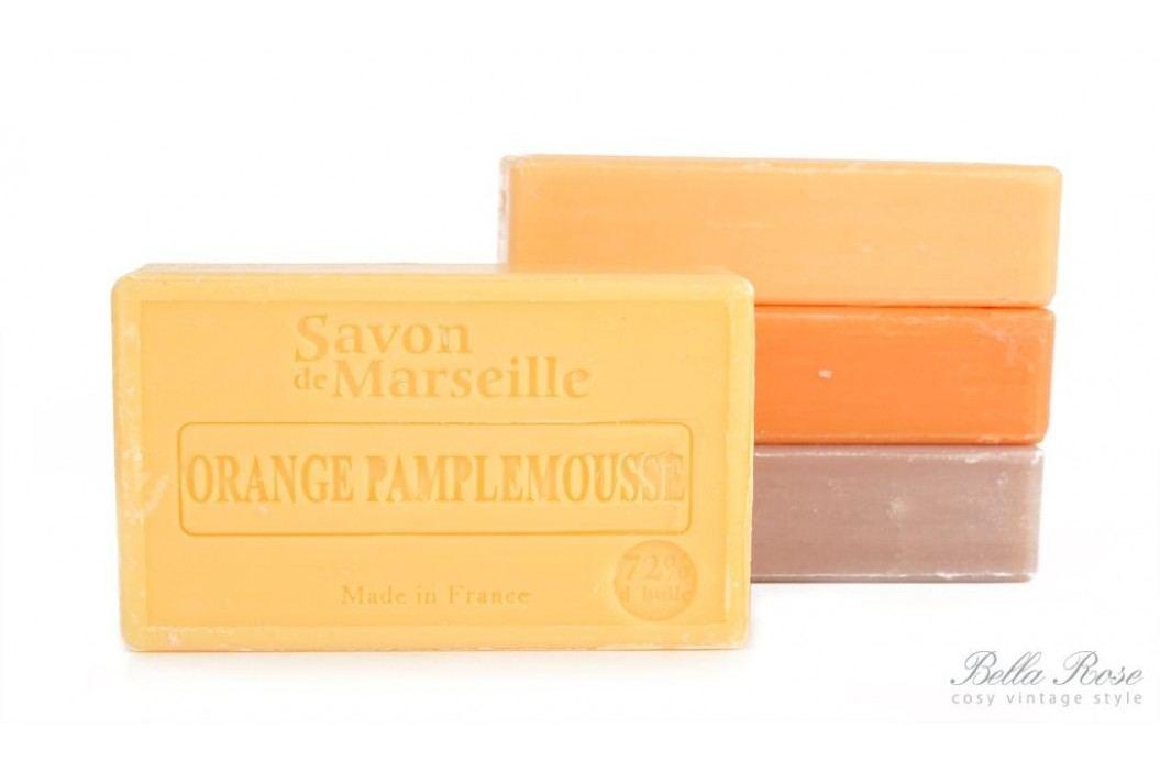 Mýdlo Marseille 100 g - pomeranč a grep, žlutá barva