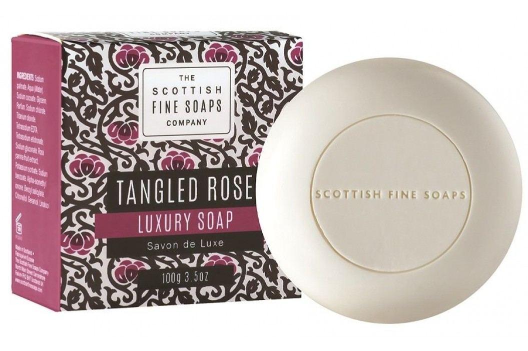 Luxusní mýdlo Tangled Rose 100 g, růžová barva, fialová barva, černá barva, papír