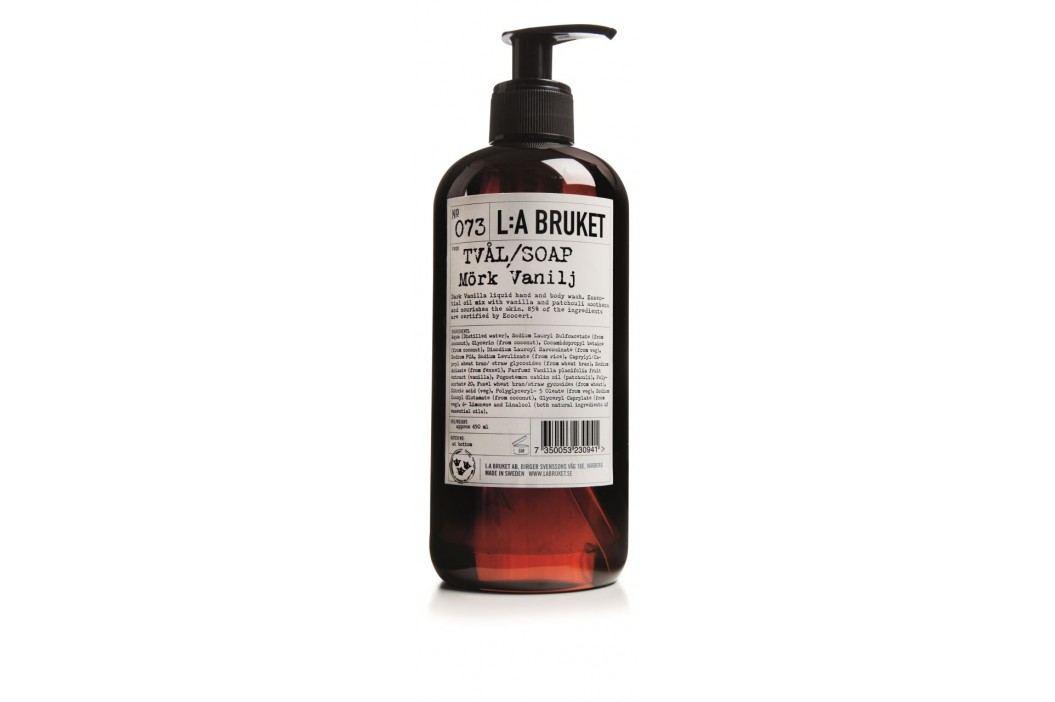 L:A BRUKET Tekuté mýdlo tmavá vanilka 450 ml, černá barva, bílá barva, hnědá barva, plast