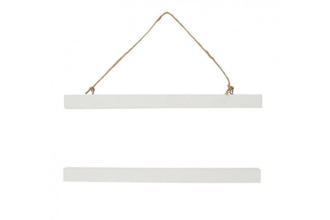 Bílý magnetický rám 31 cm, bílá barva, dřevo