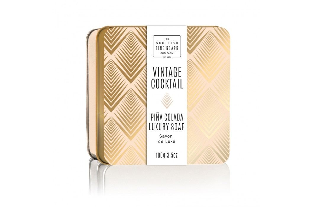 Mýdlo v plechové krabičce Piña Colada Cocktail, béžová barva, zlatá barva, kov