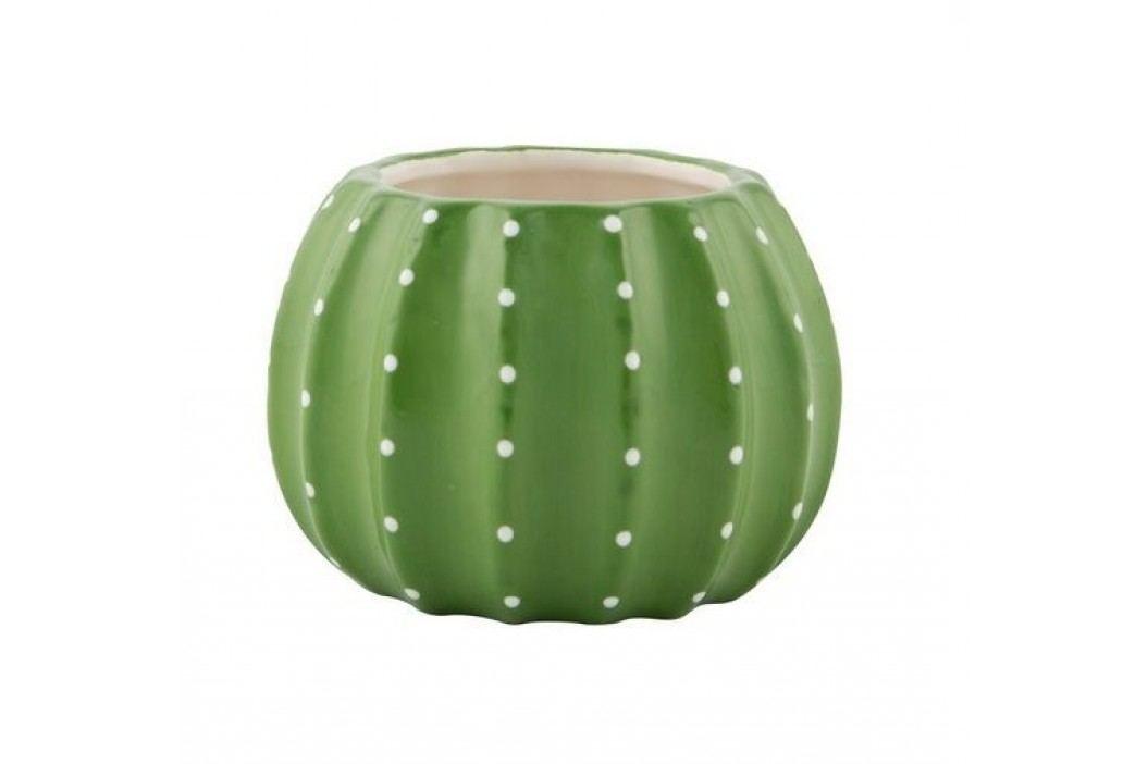 Obal na květiny Cactus, zelená barva, keramika
