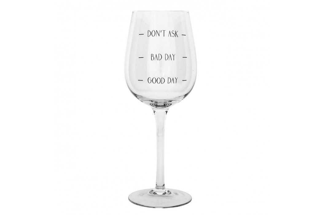 Sklenice na víno Bad day, čirá barva, sklo