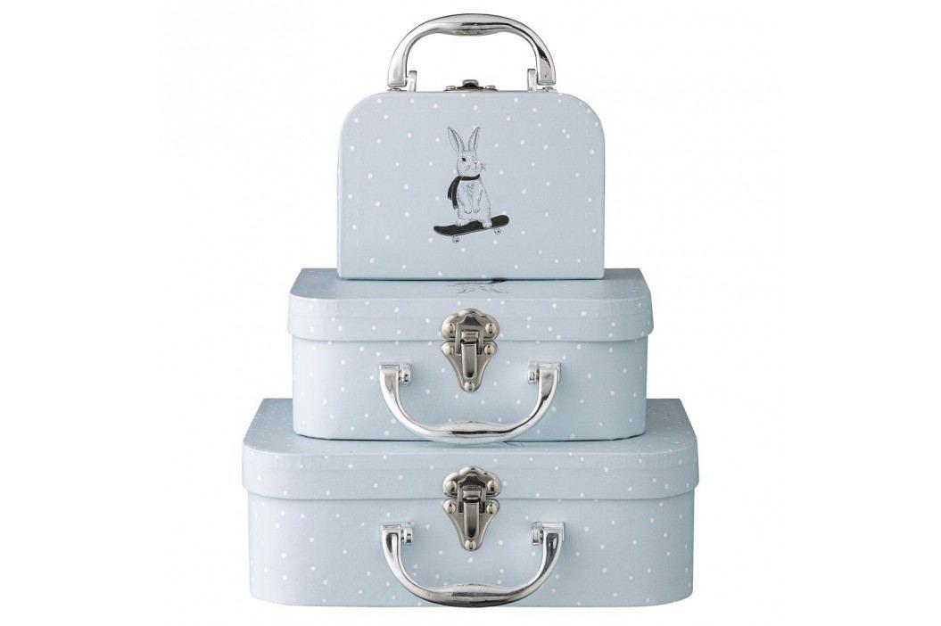 Dětský kufřík Light Blue - 3 velikosti Velikost S, modrá barva, papír