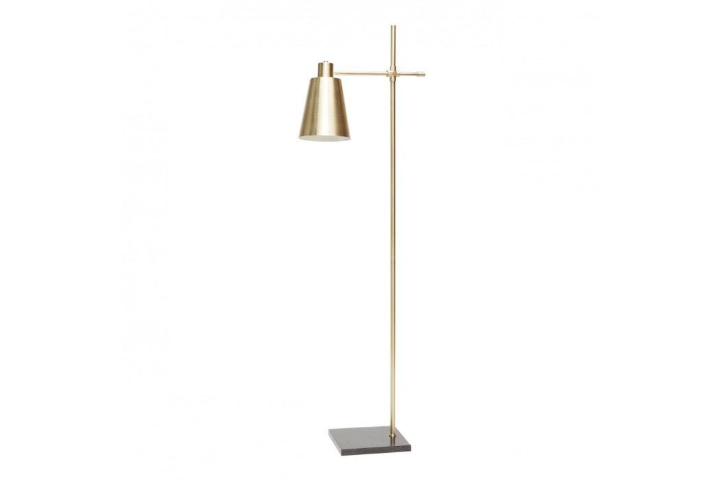 Stojací lampa Brass/marble, zlatá barva, kov