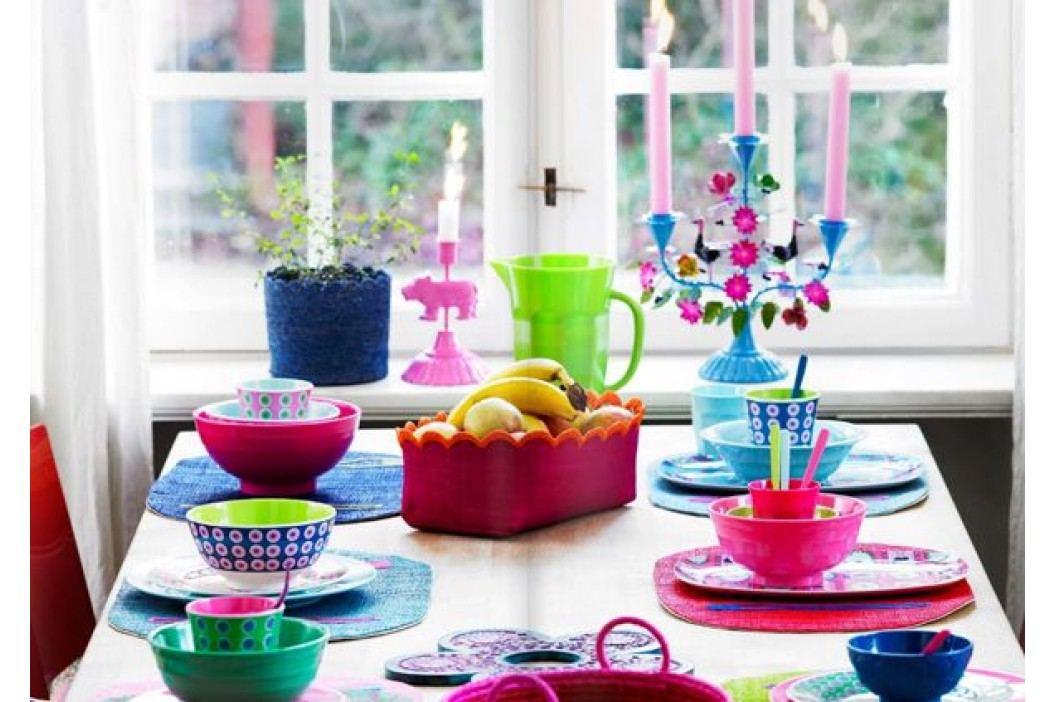 Melaminová miska - slepičky, růžová barva, modrá barva, multi barva, melamin