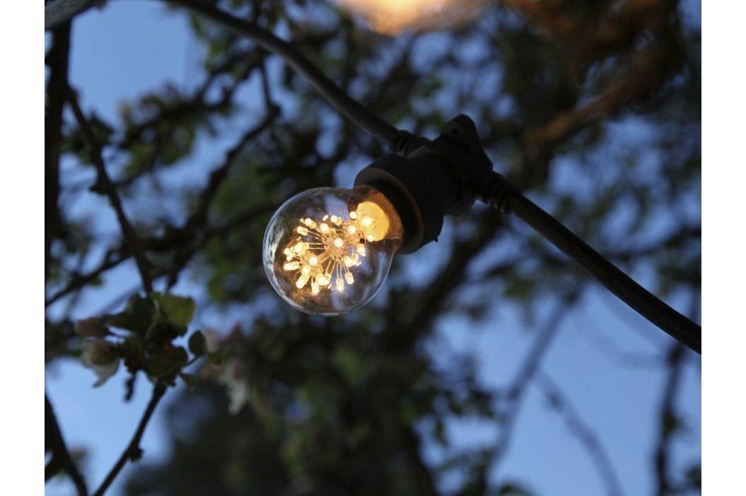 STAR TRADING Venkovní světelný řetěz na 10 žárovek, černá barva, plast