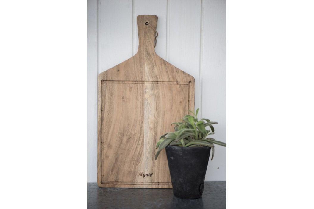 IB LAURSEN Dřevěné prkénko Mynte - široké, hnědá barva, přírodní barva, dřevo