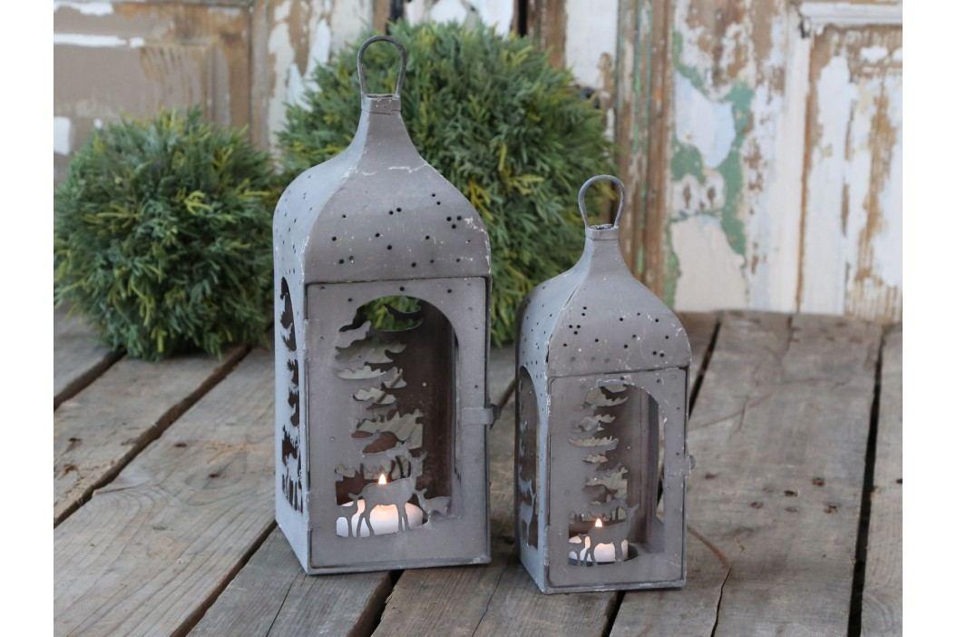 Chic Antique Lucerna Antique Zinc - menší, šedá barva, zinek