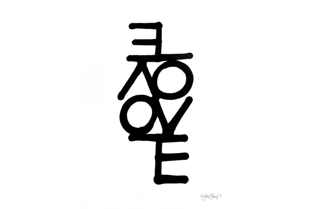 Ylva Skarp Plakát Love 30 x 40 cm, černá barva, bílá barva, papír