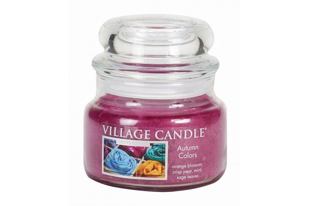 VILLAGE CANDLE Svíčka ve skle Autumn Colors - malá, růžová barva, sklo