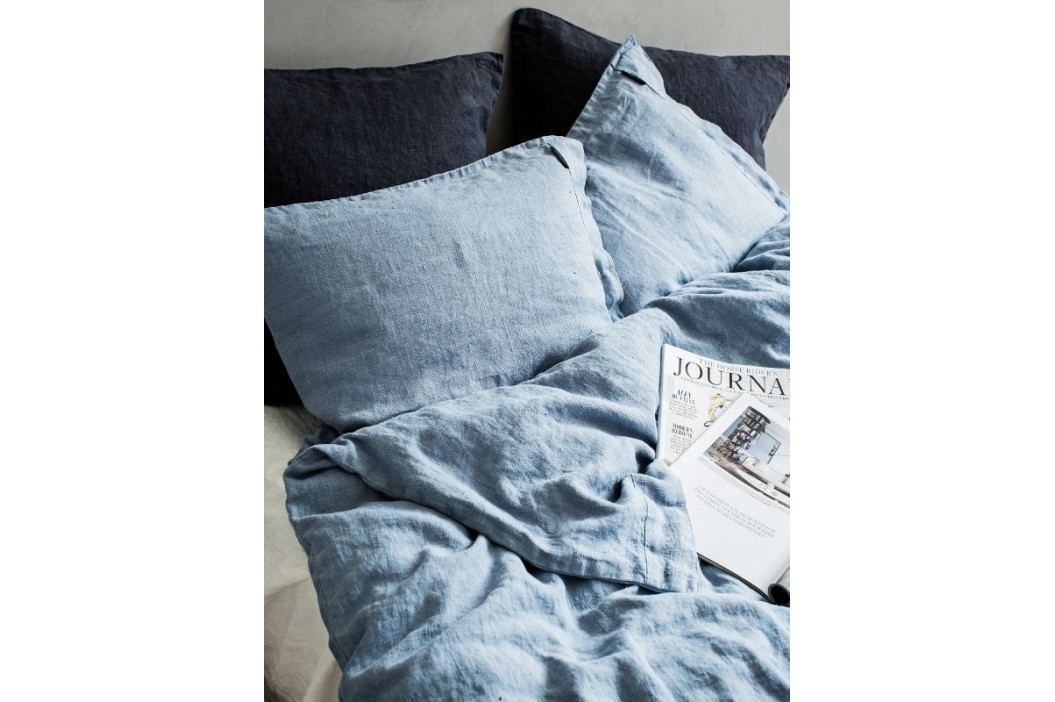 Lovely Linen Přírodní lněné povlečení Dusty blue, modrá barva, textil