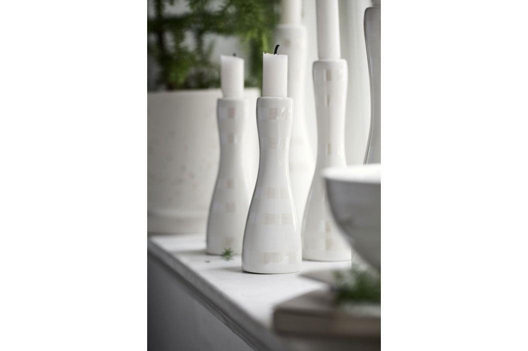 KÄHLER Keramický svícen Omaggio Pearl 20 cm, krémová barva, keramika