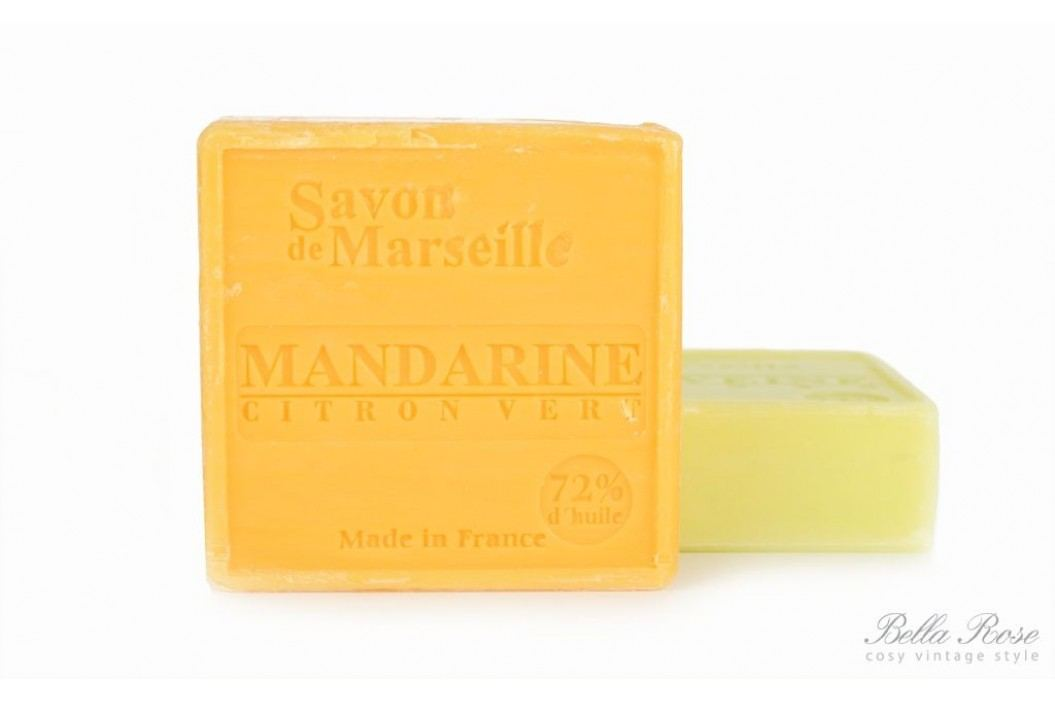 LE CHATELARD Marseillské mýdlo 100 gr - mandarinka a limetka, žlutá barva