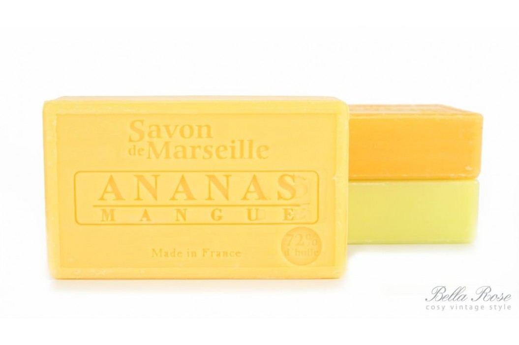LE CHATELARD Marseillské mýdlo 100 g - ananas a mango, žlutá barva
