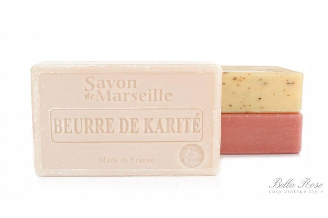 LE CHATELARD Marseillské mýdlo 100 g - bambucké máslo, béžová barva