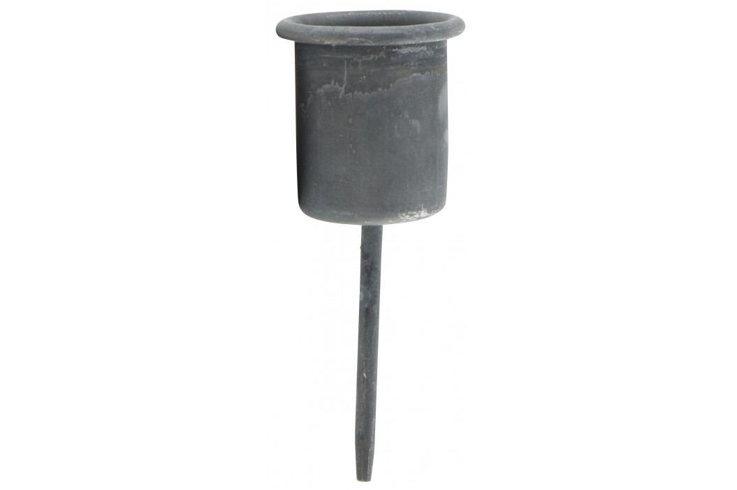 IB LAURSEN Zapichovací svícínek Grey, šedá barva, kov