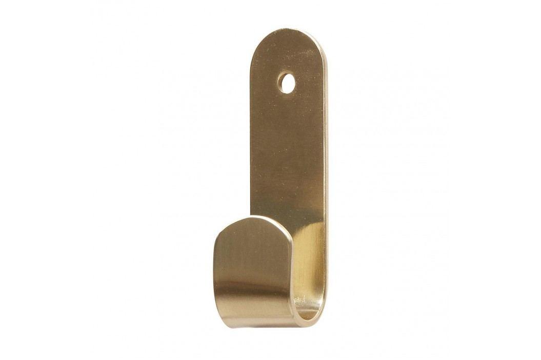 Hübsch Mosazný věšák Brass, zlatá barva, kov
