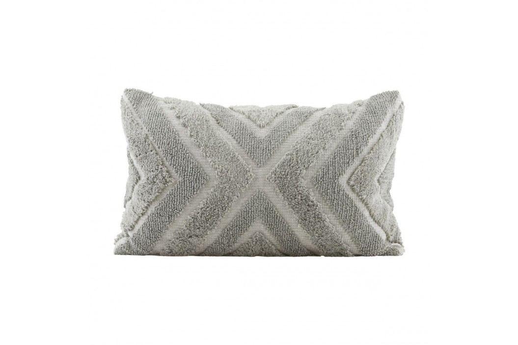 House Doctor Povlak na polštář India 60x40, šedá barva, textil
